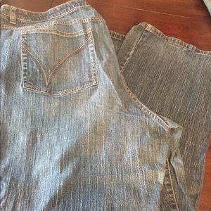 Plus size jeans boot cut stretch